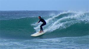 Surfing in Jeffreys Bay